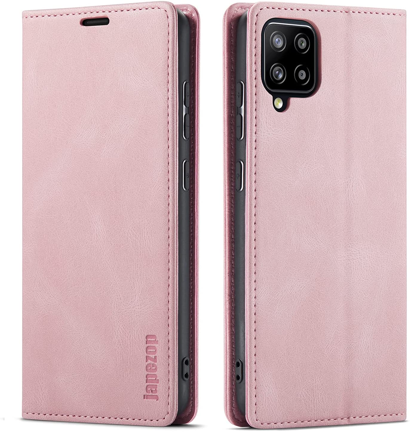 Samsung Galaxy A42 5G Case,Samsung Galaxy A42 5G Case Wallet with [RFID Blocking] Card Holder Kickstand Magnetic,Leather Flip Case for Samsung Galaxy A42 5G 6.6 inch (Pink)
