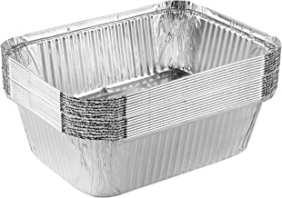 Plasticpro Disposable Oblong Aluminum Tin Foil Baking Pans Bakeware - Cookware Perfect for Baking Cakes,Brownies,Bread, Me...