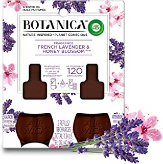 Botanica by Air Wick Plug in Scented Oil Refill, 2 Refills, French Lavender and Honey Blossom, Air Freshener, Essential Oils