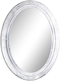 Best rustic whitewashed mirror Reviews