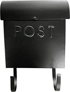 NACH MB-44765 MB-44765 MB-44765 Wall Mounted Euro Post Box Mailbox with Newspaper Holder, Powder Coated Finish, 12 x 11.2 x 4.5 Inch, Black