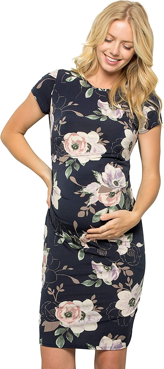 My Bump Women's Maternity Credence Bodycon Causual Dres Mama Sleeve Short Dealing full price reduction
