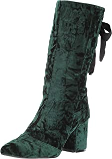 Penny Loves Kenny Women's Trace Fashion Boot, green crushed velvet, 8.5 Medium US