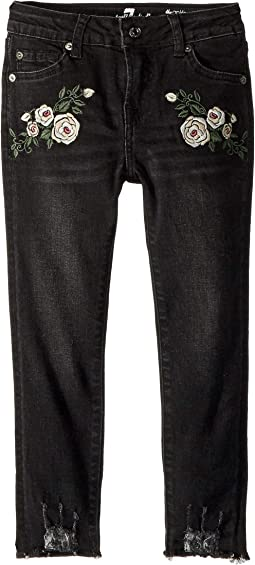 Ankle Skinny Stretch Denim Jeans in Vintage Noir (Little Kids)