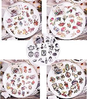 Pack d'autocollants, 5 Séries de 300 Pcs Stickers Autocollants Fleurs Plantes Auto-adhésif Gommette Sticker Scrapbooking N...