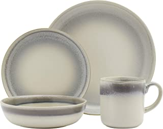 Tabletops Gallery Grey Reactive Glaze Style Classic Stoneware- 4 Piece Place Setting (10.6