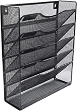 Klickpick Office 5 Sections Hanging Files Wall Mounted Metal Mesh Document File Organizer..