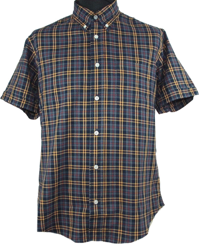 Warrior Clothing England Men´s Short Sleeve Washington Mall Retro Button-Down Sh Selling rankings