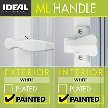 Ideal Security Inc. BK1216W ML Lever Set with Keyed Deadbolt, 4-Posts, White