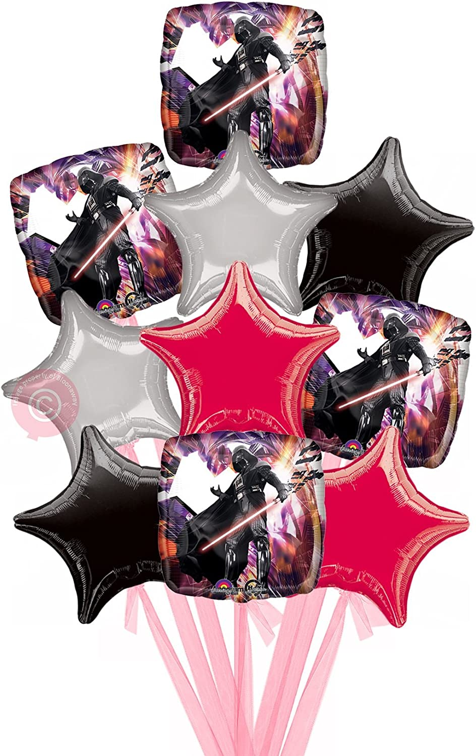 Star Wars Darth Vader  Inflated Helium Balloon Delivered in a Box  Biggest Bouquet  10 Balloons  Bloonaway