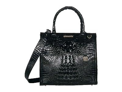 Brahmin Melbourne Caroline Satchel (Black) Handbags
