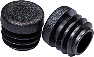 Prescott Plastics 3/4 Inch Round Plastic Plug, Pipe Tubing End Cap, Durable Chair Glide (8)