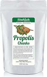 Stakich Bee Propolis Chunks - Pure, Raw, Natural - 4 Ounce