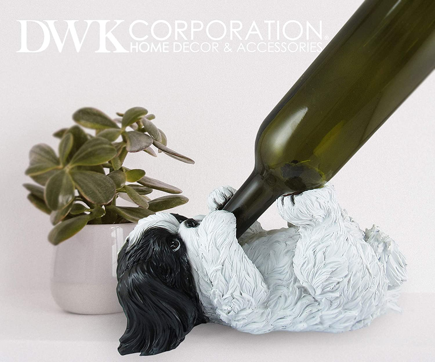 Wine Accessories for a Wine Bar DWK Animal Decorative Table Top Wine Bottle Holder Black Unicorn Great Gifts for Her Kitchen Organization Home Bar Decor