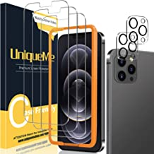 [2+3 Pack] UniqueMe Camera Lens Protector and Screen Protector Compatible with iPhone 12 Pro Max 6.7 inch Tempered Glass [...