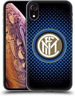 Official Inter Milan Blue Halftone 2018/19 Crest Soft Gel Case Compatible for iPhone XR