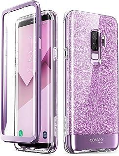 i-Blason Samsung Galaxy S9 Plus Case, [Built-in Screen Protector] [Cosmo] Full-Body Glitter Clear Bumper Case for Galaxy S...