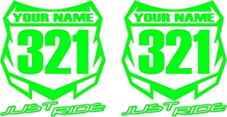 motocross number plate numbers