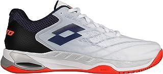 bc046e07382c Lotto Men Mirage 100 Clay Tennis Shoes Clay Court Shoe White - Dark Blue 12,
