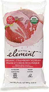 Element Snacks Organic Rice Cake Strawberry and Cream, 3.5 oz
