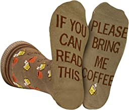 Bring Me Coffee Socks Men Women, If You Can Read This Luxury Cotton Designs, Great Gift