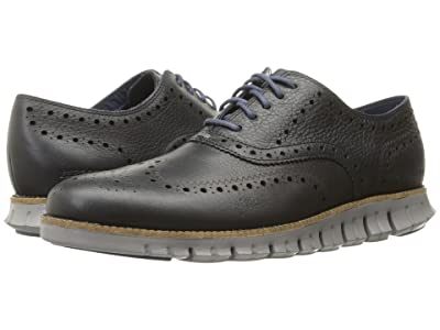 Cole Haan Zerogrand Wing Ox (Navy Ink Leather Closed/Ironstone) Men