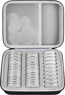 46mm Coin Capsules with 6 Sizes (20/25/27/30/38/46mm), Coins Holder Collector Case with Foam Gasket and Plastic Storage Or...