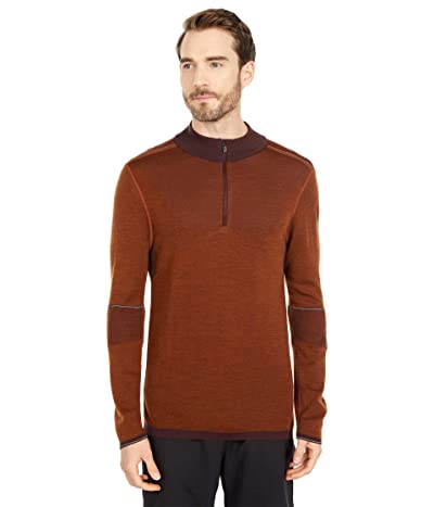 Smartwool Intraknit Merino 250 Thermal 1/4 Zip (Woodsmoke/Monument Orange) Men