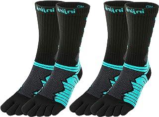 Injinji Unisex Ultra Run Crew Socks Bundle (2 Pair)