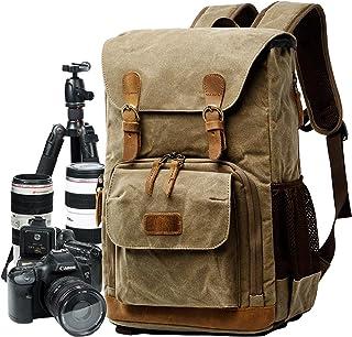 PINKPEGASUS Fototas, heren en vrouwen cameratas, outdoor digitale rugzak, canvas SLR Camera Rugzak, waterdichte en schokbe...
