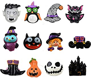 NIGHT-GRING 12 Pcs Halloween Decorations Refrigerator Magnets Office Magnets Halloween Fridge Magnet Home Decoration