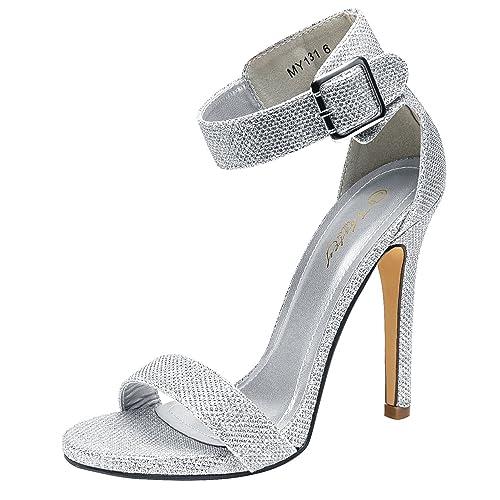f6eeb248edb VOSTEY Women Pumps Rivet High Heels T-Strap Pumps for Women …