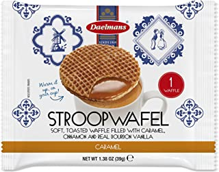 DAELMANS Stroopwafels, Dutch Waffles Soft Toasted, 24 Pack Caramel, Kosher Dairy, Authentic Made In Holland, 24 Stroopwafe...