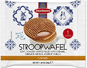 DAELMANS Stroopwafels, Dutch Waffles Soft Toasted, 24 Pack Caramel, Kosher Dairy, Authentic Made In Holland, 24 Stroopwafels Per Box, 1.38oz per serving