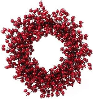 Best berry wreath christmas Reviews