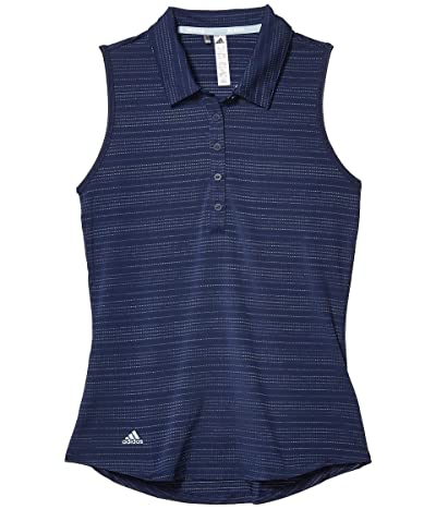 adidas Golf Microdot Polo Shirt (Tech Indigo) Women