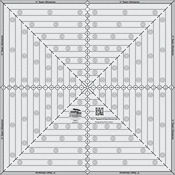 Creative Grids Square Ruler Quilting Template and Ruler 14.5 Inch Square it Up /& Fussy Cut