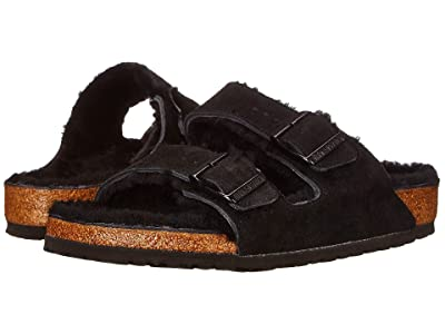 Birkenstock Arizona Shearling (Black/Black Suede) Shoes
