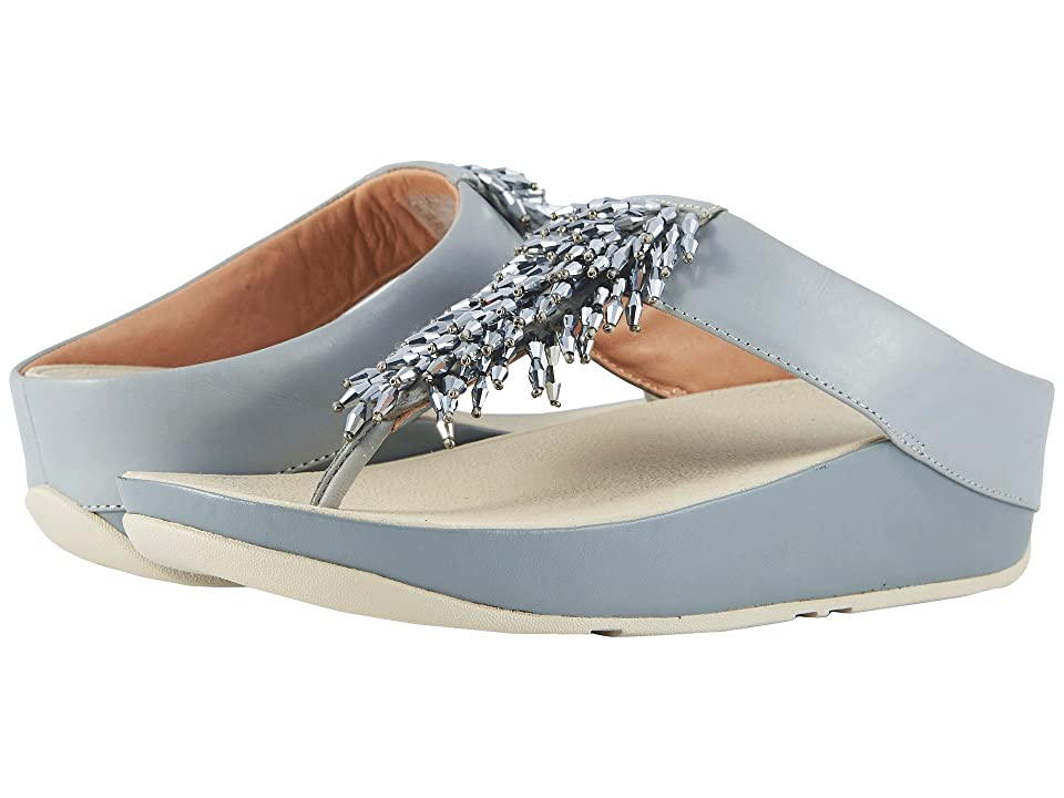 FitFlop Rumba Toe Thong Sandals (Dove Blue) Women