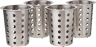 Winco Flatware Cylinder, Stainless Steel, Set of 4