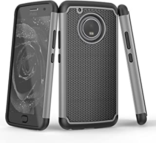 Moto G5 Plus Case, Moto G 5th Gen Plus Case, TILL(TM) [Gray] [Shock Absorption] Dual Layer TPU + Plastic Scratch Resistant Hybrid Armor Defender Protective Case Cover Shell for Motorola Moto G 5 Plus