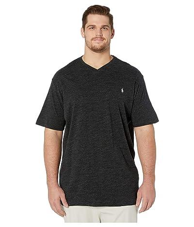 Polo Ralph Lauren Big & Tall Short Sleeve V-Neck T-Shirt (Black Marl Heather) Men