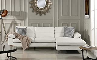 Amazon.com: White - Sofas & Couches / Living Room Furniture ...