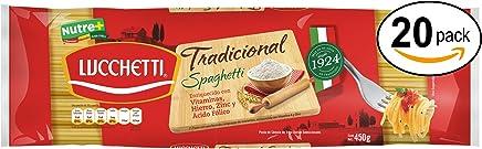 Lucchetti Spaghetti Tradicional, 450 g x 20 paquetes