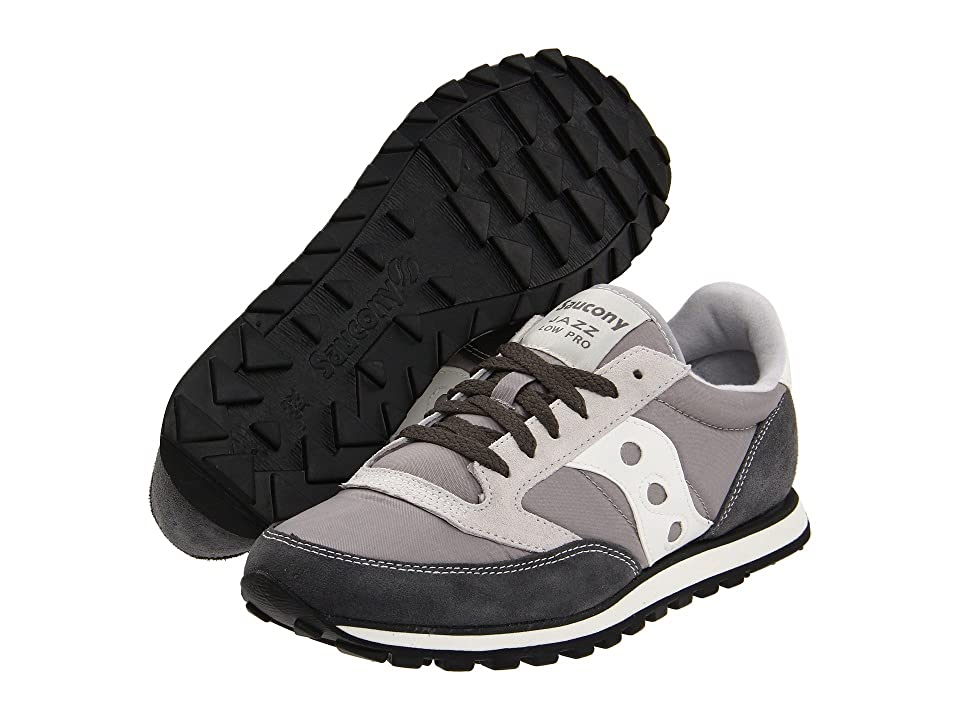 Saucony Originals Jazz Low Pro (Grey/White) Men