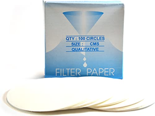 Eisco Labs Premium Qualitative Filter Paper, 9cm Dia, Medium Speed (85 GSM), 10μ (10 Micron) Pore Size - Pack of 100