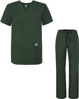 Adar Mens Medical Scrubs Set Medical Uniforms - Roomy Fit (30 Colors)