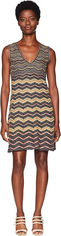 Lurex Zigzag V-Neck Dress