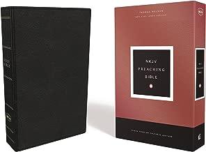 NKJV, Preaching Bible, Premium Calfskin Leather, Black, Comfort Print: Holy Bible, New King James Version