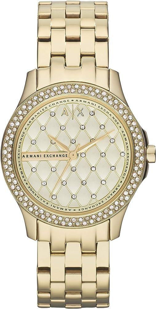 Armani exchange, orologio per donna, in acciaio inossidabile AX5216